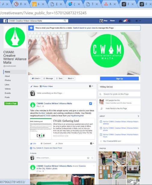 CWAM Facebook Branding